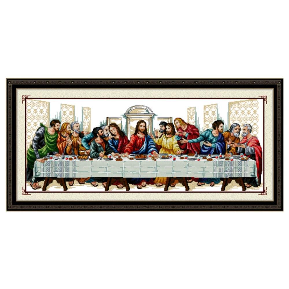 101*48 cm DIY Handarbeiten Handarbeit Kreuzstich Set Stickerei Gedruckt Jesus Christus Kreuzstich Letzte Abendmahl Hause Decor