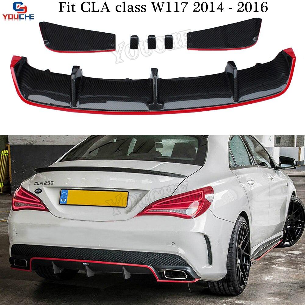 2014 Mercedes Benz Cla Class Camshaft: W117 Carbon Fiber Rear Diffuser Bumper Lip For Mercedes