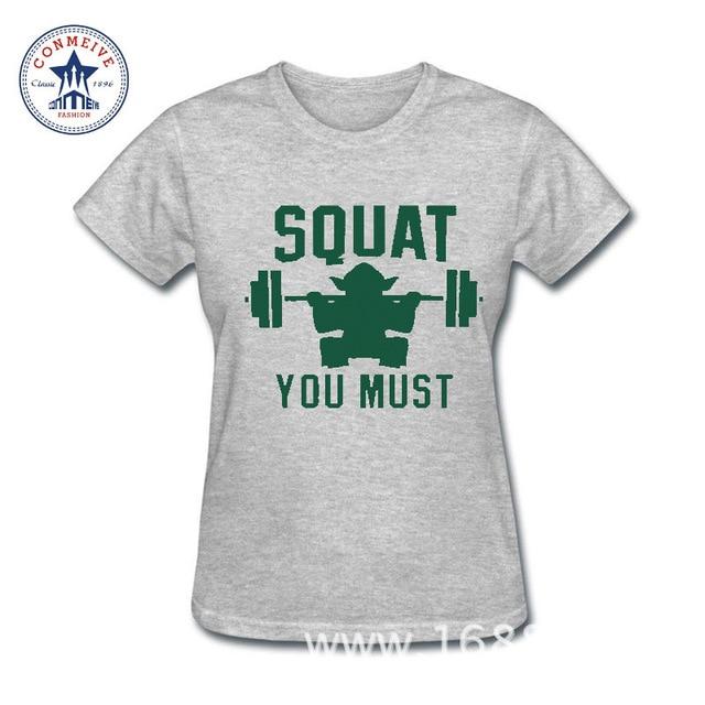 Star Wars Women T-Shirt – Squat You Must (Yoda)