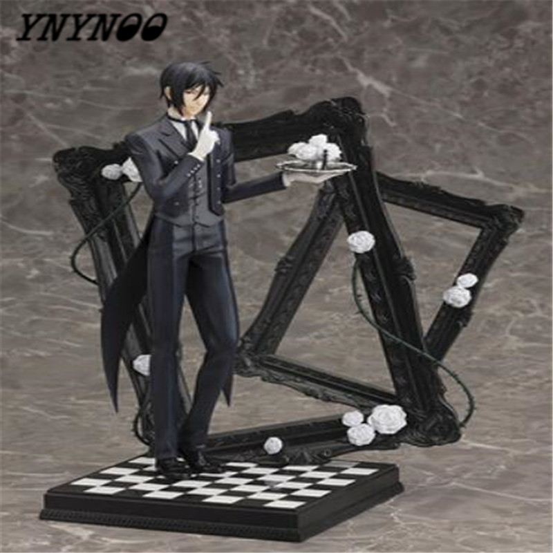 цена на YNYNOO Anime Black Butler Sebastian Michaelis Book of Cirus pvc action figure model toy doll juguetes child brinquedos 25cm
