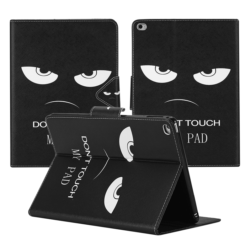 Fashion Cases For iPad Air 2 For Apple Ipad 6 PU Leather Covers Print Cartoon Romantic Tablet Cases Fast shipping