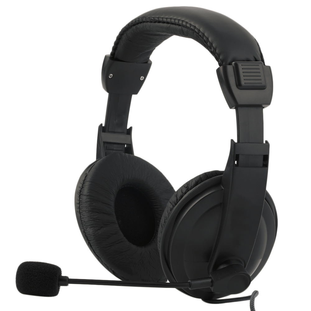 Gaming Headset Game Music Headphone Earphone with Microphone Mic 3.5mm For PC Laptop Computer Black each g8200 gaming headphone 7 1 surround usb vibration game headset headband earphone with mic led light for fone pc gamer ps4