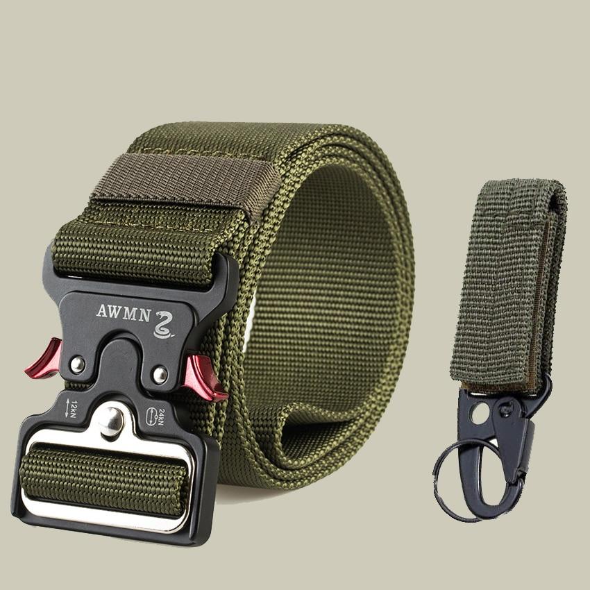 4,8 см ширина мужской ремень нейлоновый тактический армейский ремень для брюк с металлической пряжкой холщовые ремни для тренировок на открытом воздухе Черный Военный поясной ремень - Цвет: Army Green Match