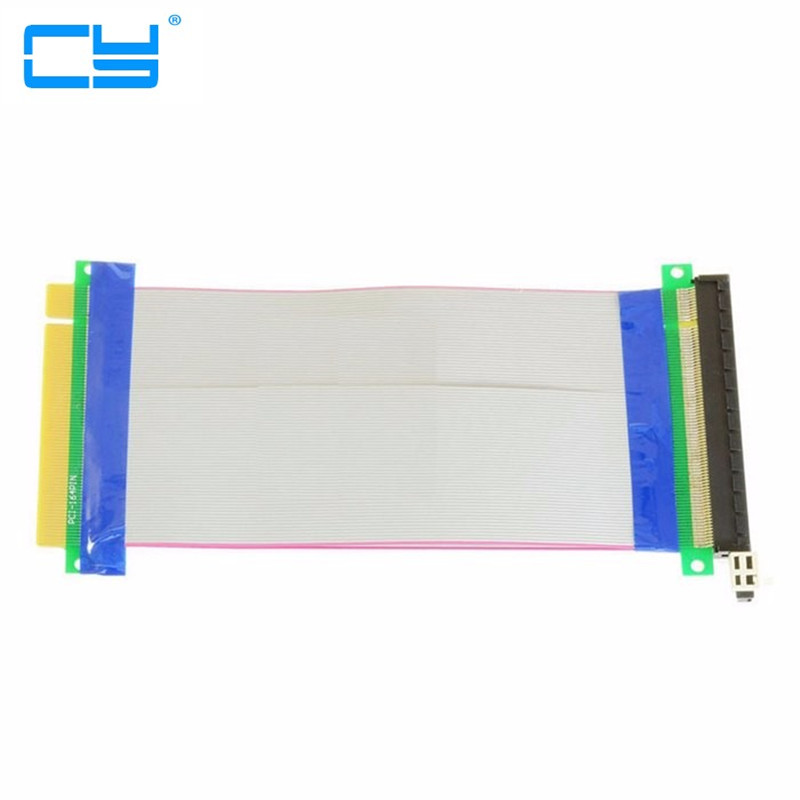 все цены на Riser pcie PCI-E pci Express 16x Riser card 16x 16x Male to Female Extender Card Ribbon Cable adapter converter 20cm онлайн