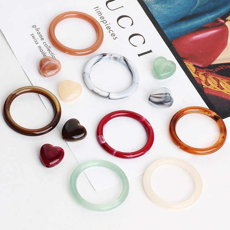 DIY เทอร์ควอยซ์เทียมหยกเครื่องประดับเรซิ่นแหวนต่างหูต่างหูจี้จี้วงกลม of love