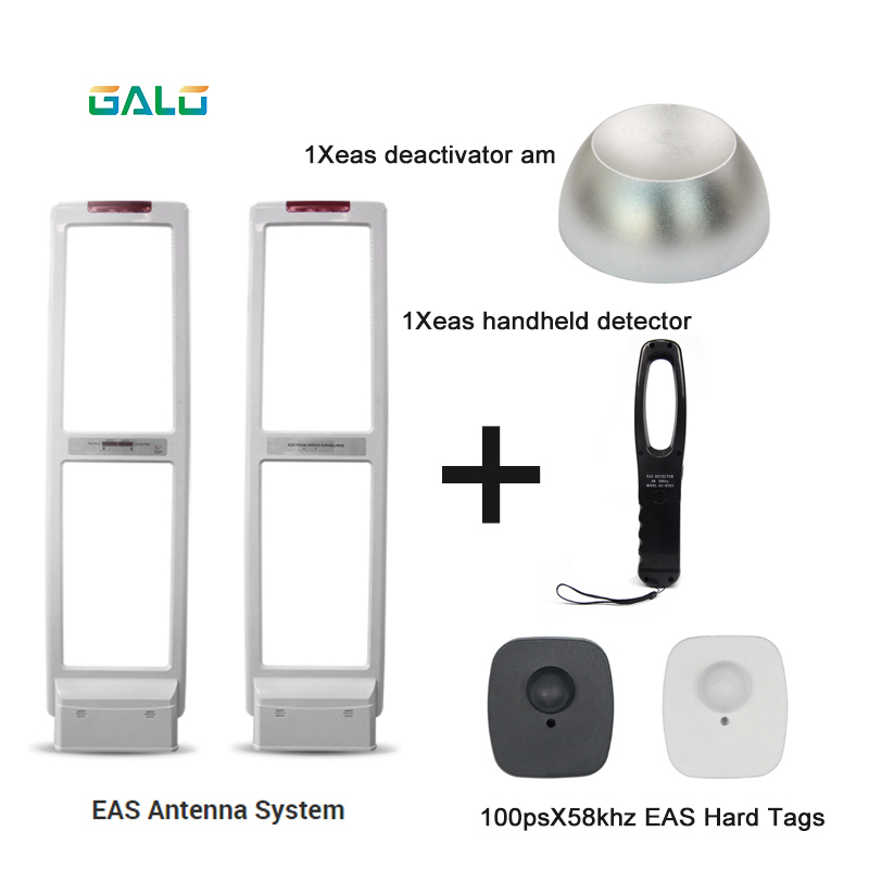 Shop Security Alarm Antenna AM EAS Anti-theft System With Soft Labels Tags & Deactivator & Handheld Frequency Tester