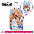 Dispalang индивидуальные туристические аксессуары собака животных печать anti-dust камера протектор подходит для 18-30 дюймов чемодан (крышка только)