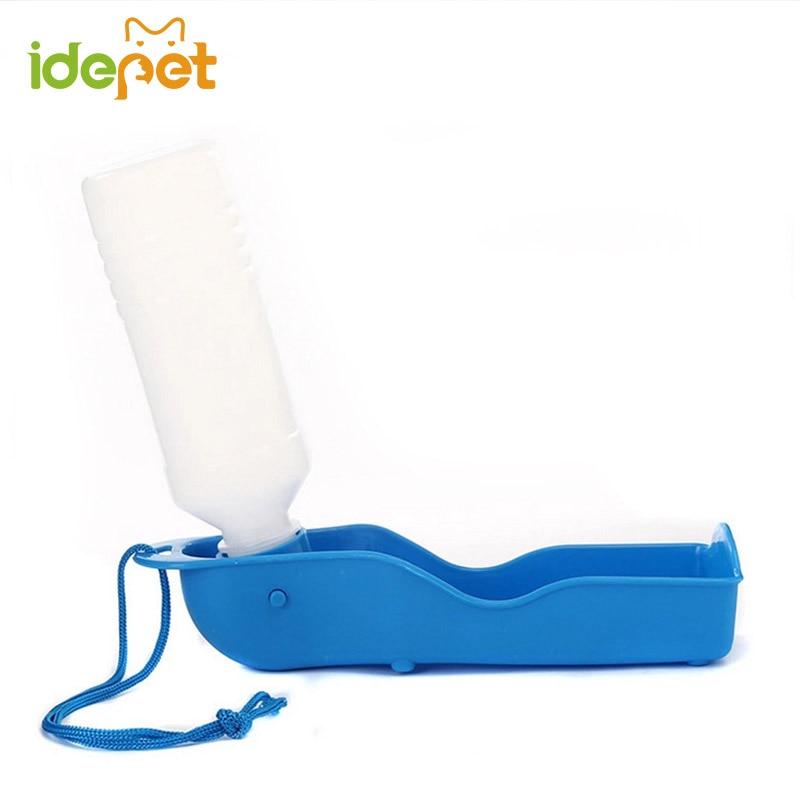 250 / 500ML Botella de agua para perro al aire libre Mascota Botella de perro portátil Beber Perros de viaje Pezón Productos diarios automáticos para mascotas 25