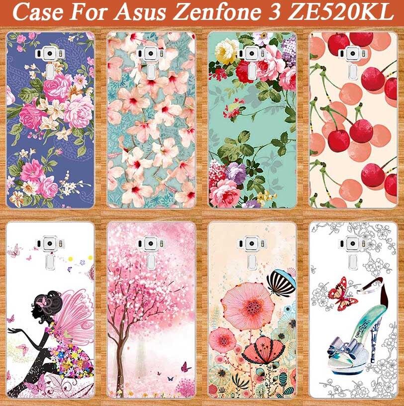 Новое поступление чехол для Asus Zenfone 3 ZE520KL мягкие ТПУ чехол оригинальный 10 Вышивка Крестом Картины Красочные для ASUS 3 ZE520KL ТПУ чехол