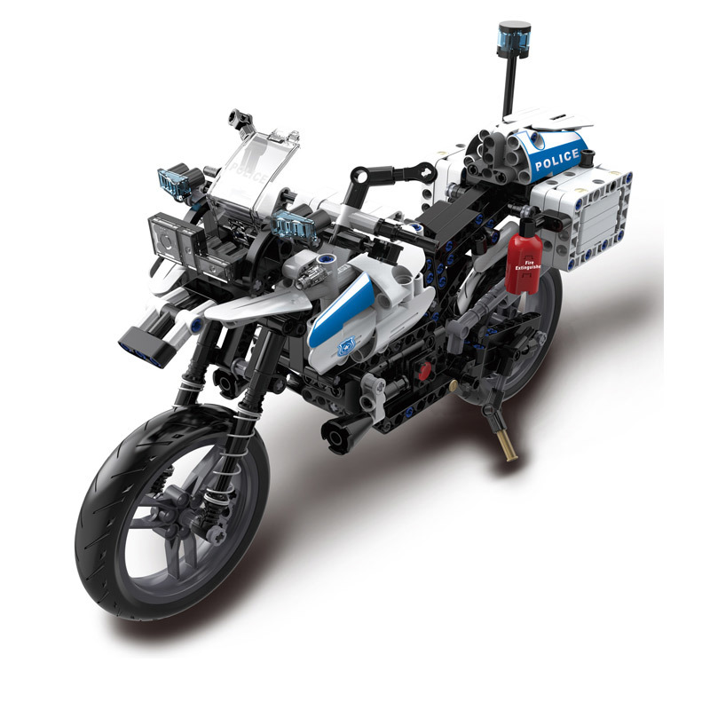 RC Toys City Police Patrol Motorcycle DIY Sets Motorbike with light car Toys For kids baby birthday gifts