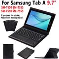 Чехол для клавиатуры с тачпадом для Samsung Galaxy Tab A 9 7 S Pen SM-T550 SM-T555 SM-P550 T550 T555 P550 P555 кожаный чехол