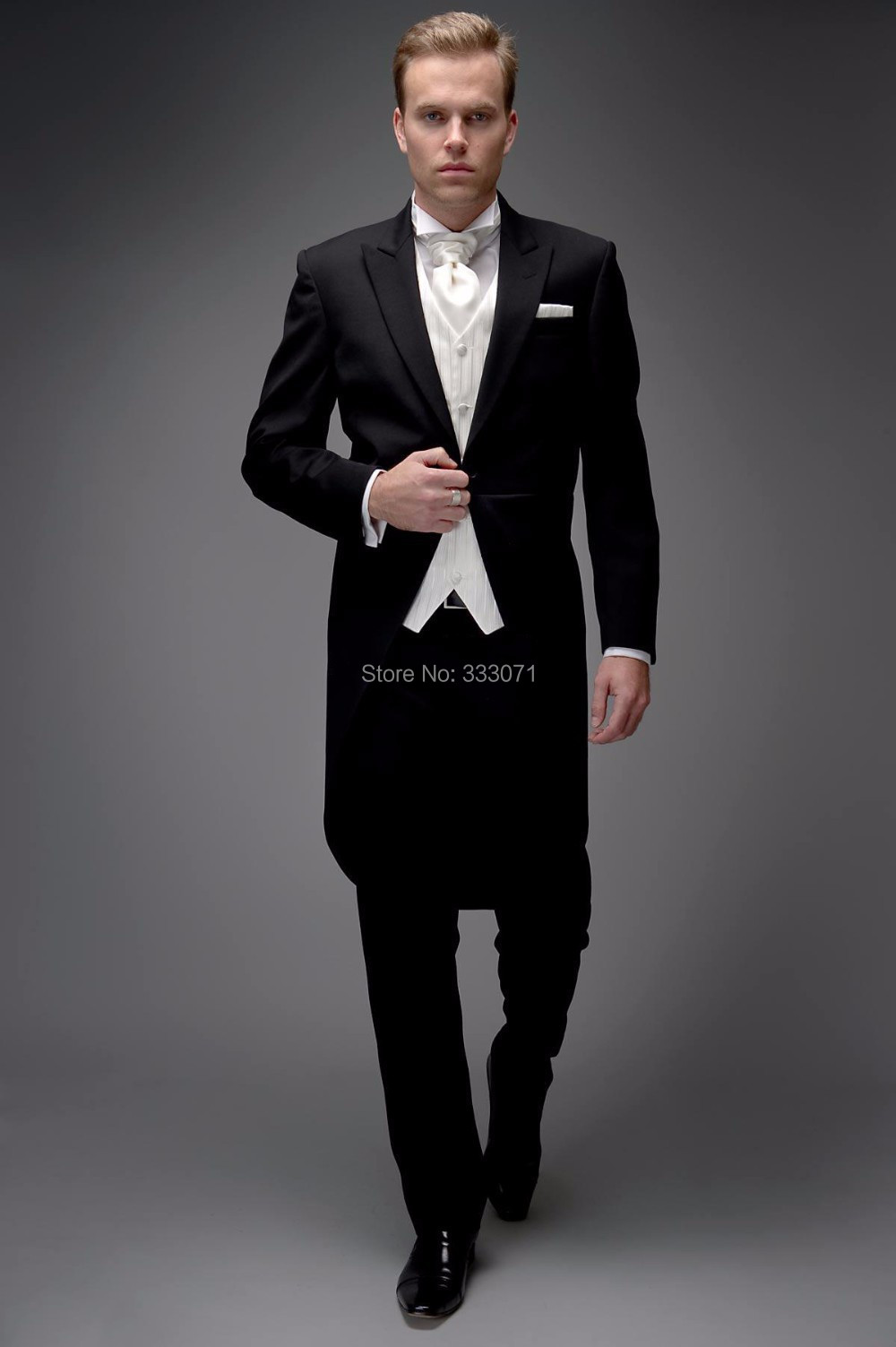 custom made slim fit smokings de mari meilleur homme suit notch revers groomsman hommes de mariage - Costume Queue De Pie Homme Mariage