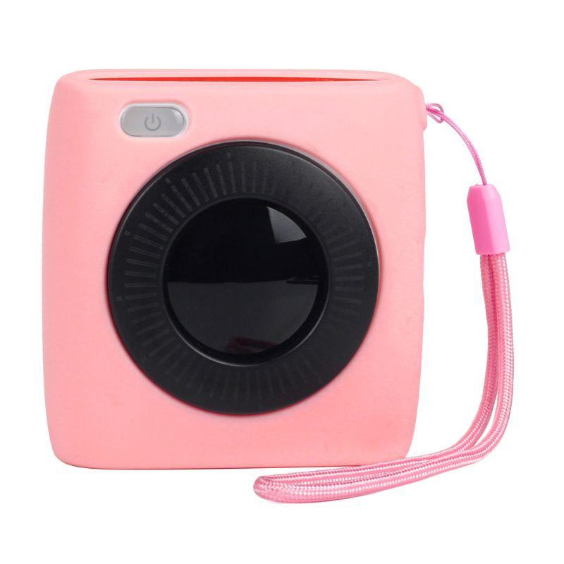 Мягкий силиконовый полупрозрачный защитный чехол для переноски, чехол для хранения, сумка в виде ракушки, протектор для Paperang P2 поколения, фотопринтер Ac - Цвет: Розовый