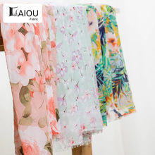 цена Floral Printing Dress Cloth 75D Polyester Plain Fabric For DIY Making онлайн в 2017 году