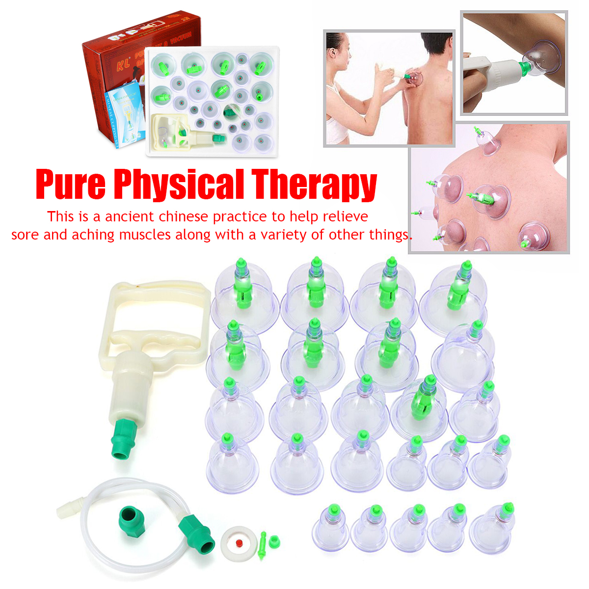 24Pcs Vacuum Therapy Cups Help Relieve Sore Good Penetrating Effect Safer Chinese Healthy Body Cupping Suction Massage Helper24Pcs Vacuum Therapy Cups Help Relieve Sore Good Penetrating Effect Safer Chinese Healthy Body Cupping Suction Massage Helper