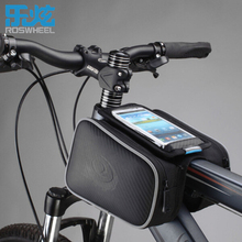 Sales ROSWHEEL Double IPouch Cycling Pannier For 4.7-5.5 inch Smartphone Touch Screen Bike Bicycle Frame Front Head Top Tube Bag