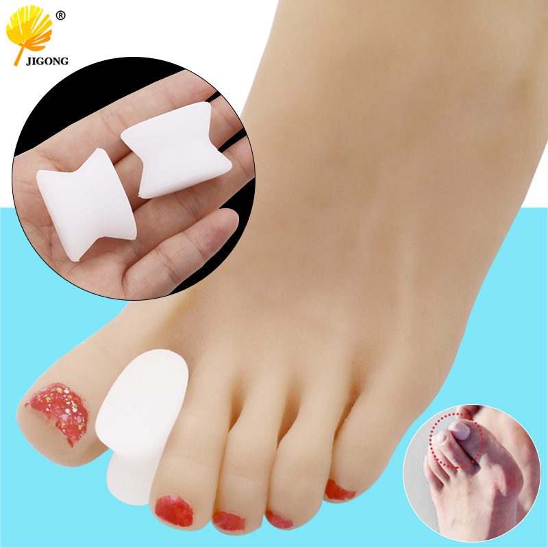 1pair Toe Separators Spacer Straightener Thumb Finger Big Feet Device Pad Toe Pads Thumb Valgus Corrector Relief Foot Bunion