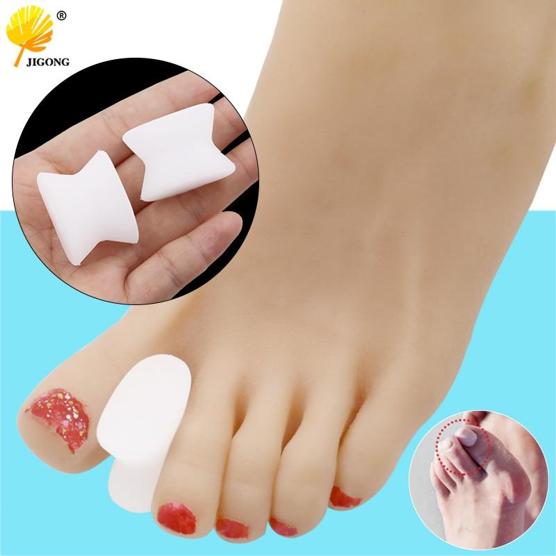 1pair Toe Separators Spacer Straightener Thumb Finger Big Feet Device Pad Toe Pads Thumb Valgus Corrector Relief Foot Bunion