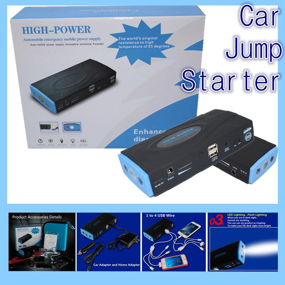 hot sell car jumper booster power battery charger laptop power bank car starting 12V portable mini jump starter 2USB
