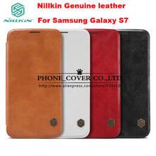 Nillkin Подлинная Кошелек Кожаный Роскошный Case cover For Samsung Galaxy S7 телефон сумки случаи кожи для samsung s7 case