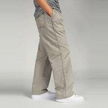 Pamuklu erkek kargo Joggers pantolon elastik bel askeri pantolon erkekler moda gevşek rahat tulumları artı boyutu 3XL 4XL 5XL 6XL
