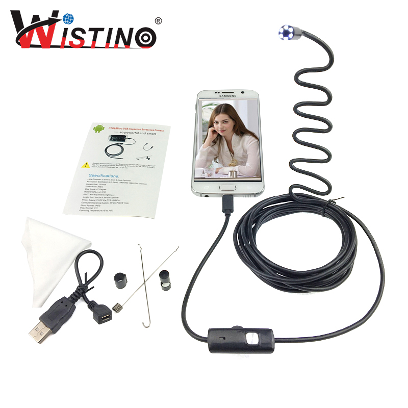 8mm Mini Android USB Endoscope Smartphone Camera Pipe Cable Waterproof Led Inspection Endoscope Surveillance 5m Endoscope Camera