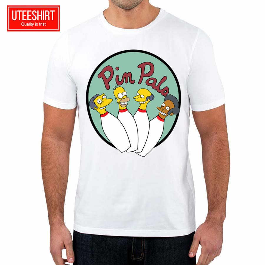 9d63d04a74c8b Мужская забавная футболка с симпсонами унисекс с коротким рукавом с круглым  вырезом Harajuku футболка женская летняя