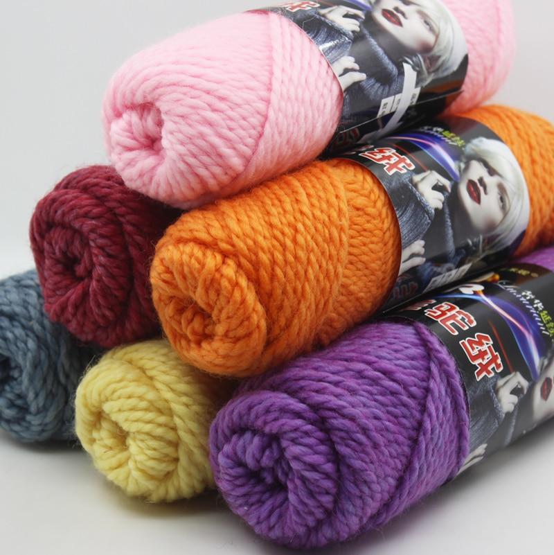 ⑧200g tejer lana Bufandas Alambres gruesa línea Alambres mano punto ...