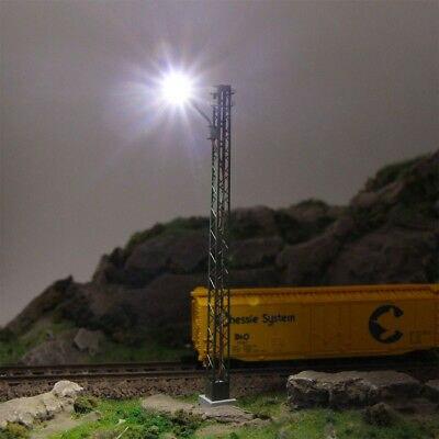 LQS59HO 3pcs Model Railway lights Lattice Mast lamp Track light HO Scale Layout 3