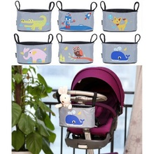 Baby Stroller Organizer Diaper Bags Mommy Travel Nappy Bag Cartoon Accessories Storage Hanging