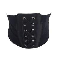 Fashion Lady Retro Bandage Ultra Wide Belt Elastic Slim Waist Cummerbund Vintage Black