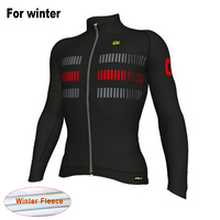 New Ale Team 2017 Winter Warm Long Sleeves Cycling Jersey Men Thermal Fleece Bicycle Clothing Ropa Ciclismo Maillot Bike Clothes