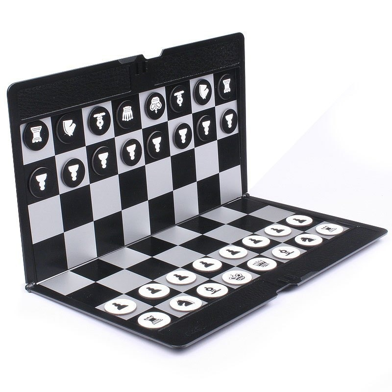 Pocket Mini Size Chess Set Board Magnetic Portable Checkers Set Traveler Plane Easy To Carry Board party Family Game L347