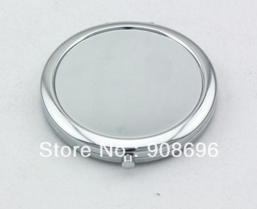 100Pcs Circle Blank Compact Mirror Silver Makeup Mirror Fedex DHL EMS Free Shipping