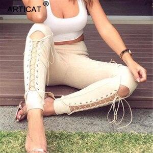 Image 3 - Calças de camurça para outono e inverno, calça de camurça feminina skinny com cintura alta, casual