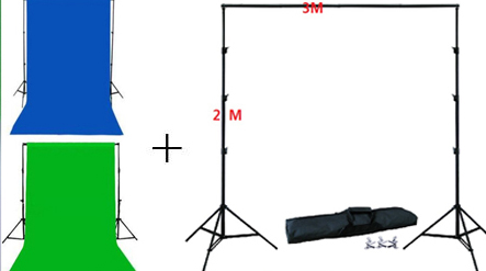 Cotton Chroma key Muslin Screen Backdrops material Double 2 Face Fabric backgougrou and backgouground stand