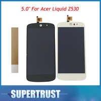 """1 teil/los 5,0 """"Für Acer Flüssigkeit Z530 LCD Display + Touch Screen Digitizer Montage Hohe qualität Schwarz Weiß Farbe mit band"""