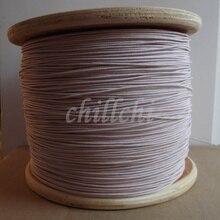 0.1x100 parts dantenne de machine minière fil Litz fil de cuivre multi brins polyester enveloppe de soie enveloppe fil 100 m/lot