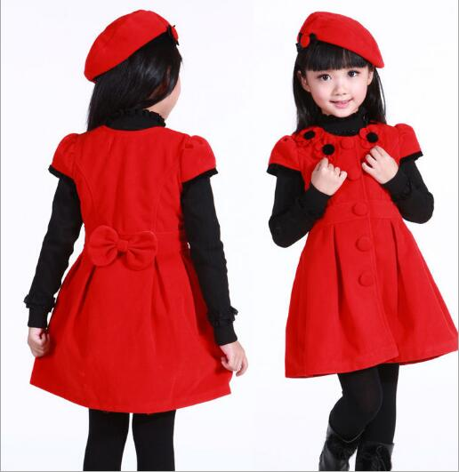 girls woolen vest dress winter/Autumn formal dress 2018 Children clothes girls dress big virgin princess party winter dress uoipae party dress girls 2018 autumn