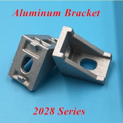 50pcs 2028 Aluminum Corner Brackets Corner Fitting Angle 20*28 L Connector Bracket Use For 2028 Industrial Aluminum Profile