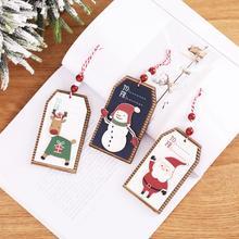 цена HUIRAN Wooden Hanging Christmas Ornaments Christmas Tree Decorations Christmas Decor for Home 2019 Xmas Decor Navidad New Year в интернет-магазинах