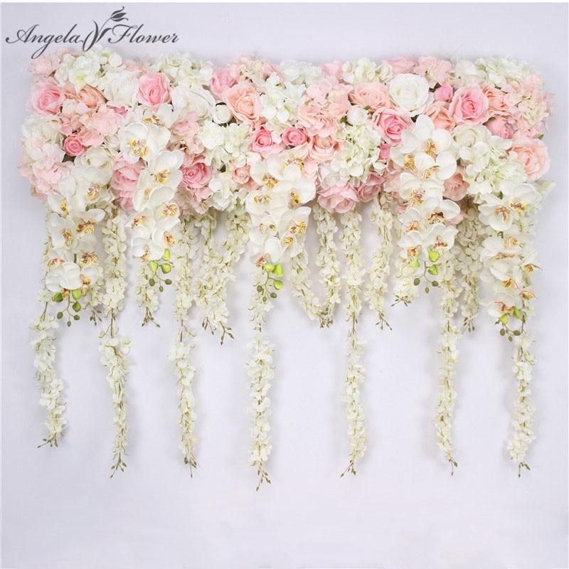 New 1m orchid wisteria Artificial flower row DIY wedding arch backdrop decor road guide flower arrangement