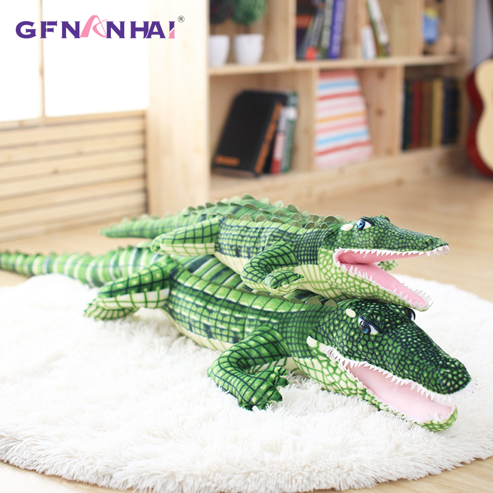 1pc New 105/165cm Cartoon Lovely Crocodile Plush Toy Lifelike Simulati Crocodile Doll Stuffed Kids Toys Baby Birthday Gift