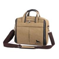 2017 Men S Retro Business Briefcase For Laptop Canvas Messenger Bag Brand Men S Vintage Style