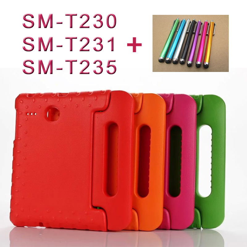 NEW Shockproof Light Weight Protection Handle Stand Kids Case for Samsung Galaxy Tab 4 7-inch SM-T230, SM-T231, SM-T235 аксессуар чехол samsung galaxy tab a 7 sm t285 sm t280 it baggage мультистенд black itssgta74 1