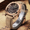 MEGIR Men Casual Business Waterproof Luminous Analog Wristwatch Luxury Brand Pointer Leather Strap Military Watches Male Clock