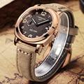 Megir men business casual analógico relógio de pulso à prova d' água luminosa ponteiro marca de luxo pulseira de couro militar relógios relógio masculino