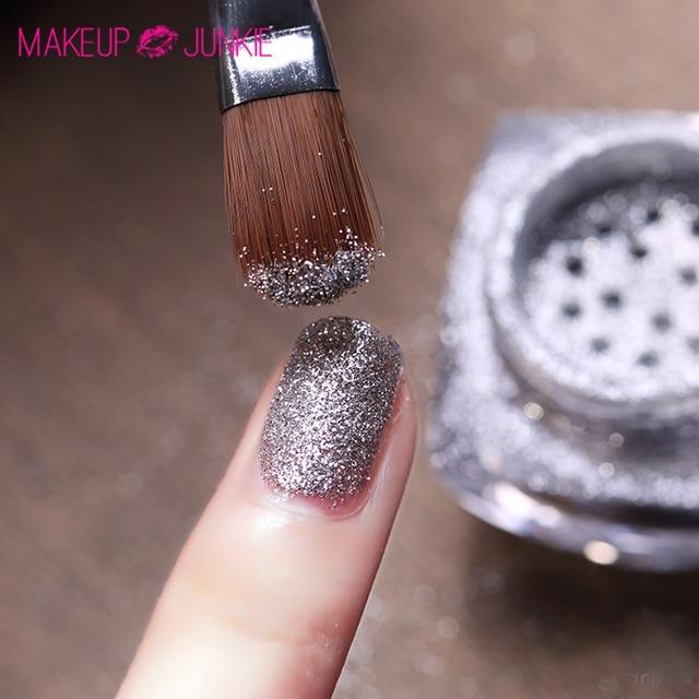 1pc Makeup Junkie Gradient Uv Nail Glitter Powder Brush Nail Art Pen