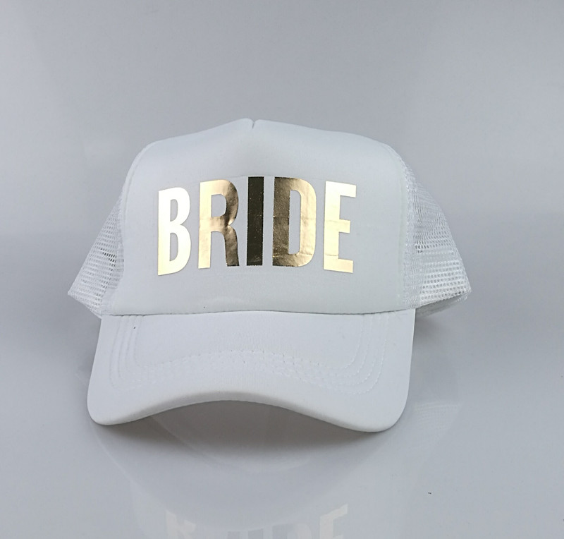 C&Fung SQUAD BRIDE TEAM BRIDE trucker hats basebal Caps for wedding party gold glitter pink mesh hats Summer style 1