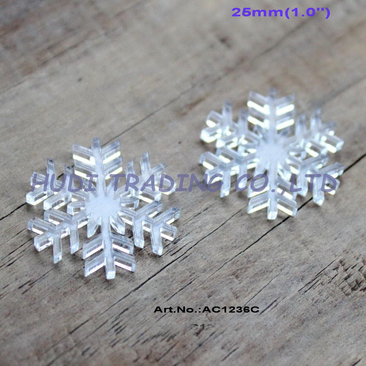 Acrylic clear ornaments -  60pcs Lot 25mm Assorted Clear Acrylic Snowflakes Christmas Ornaments 1 Ac1236c